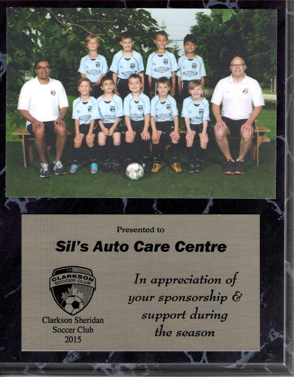 Congratulations on a Great Season of FUN - Clarkson Sheridan Soccer Club.